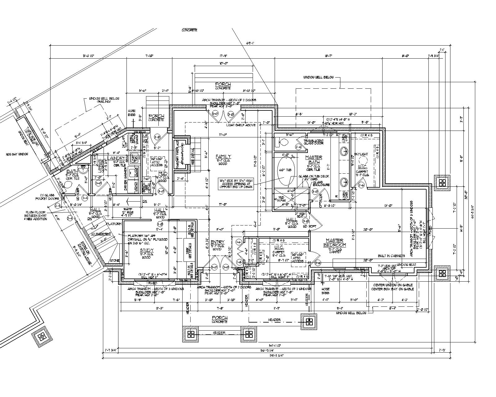 Whole first floor that flipping couple for How to draw blueprints